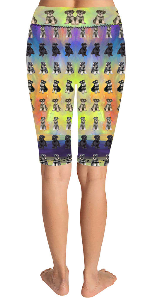 Paradise Wave Shiba Inu Dogs Knee Length Leggings