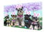 Schnauzers Dog Easter Holiday Canvas Wall Art CVS60033