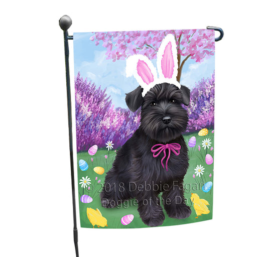Schnauzer Dog Easter Holiday Garden Flag GFLG57015