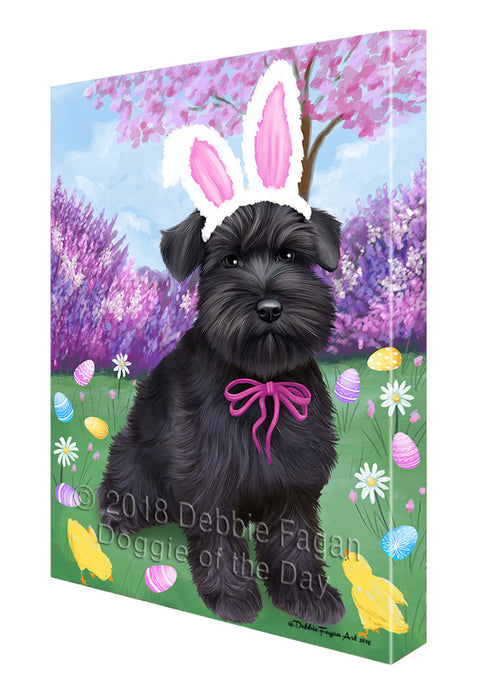 Schnauzer Dog Easter Holiday Canvas Wall Art CVS60042
