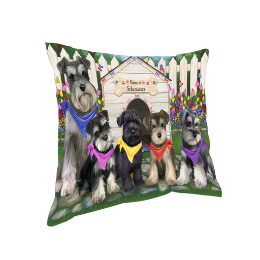 Spring Dog House Schnauzers Dog Pillow PIL56364