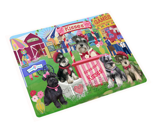 Carnival Kissing Booth Schnauzers Dog Cutting Board C72903