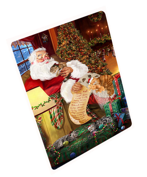 Santa Sleeping with Scottish Fold Cats Christmas Large Refrigerator / Dishwasher Magnet RMAG77820