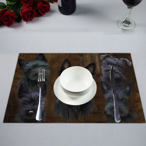 Rustic Scottish Terrier Dogs Placemat