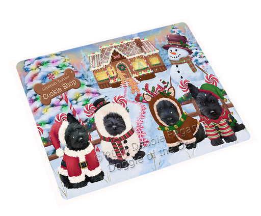 Holiday Gingerbread Cookie Shop Scottish Terriers Dog Cutting Board C74988