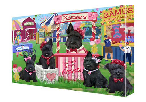 Carnival Kissing Booth Scottish Terriers Dog Canvas Print Wall Art Décor CVS125531