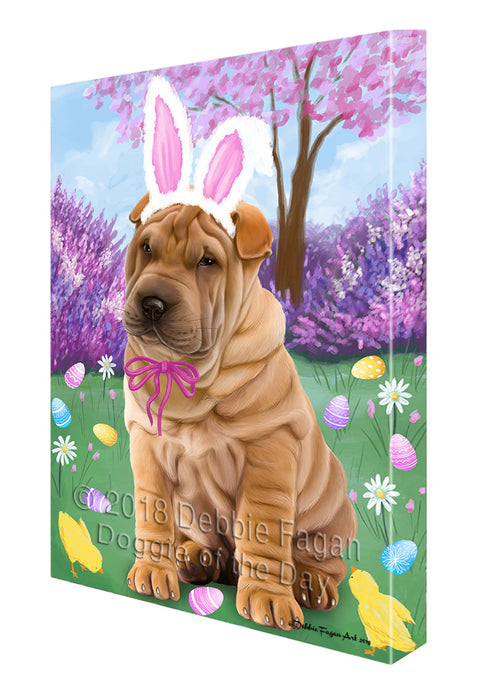 Shar Pei Dog Easter Holiday Canvas Wall Art CVS60132