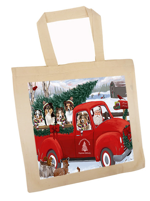 Christmas Santa Express Delivery Shetland Sheepdogs Family Tote TTE55067