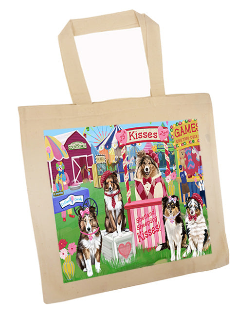 Carnival Kissing Booth Shetland Sheepdogs Tote TTE55925