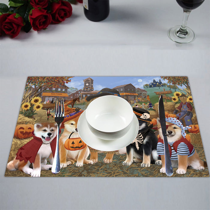 Halloween 'Round Town Shiba Inu Dogs Placemat