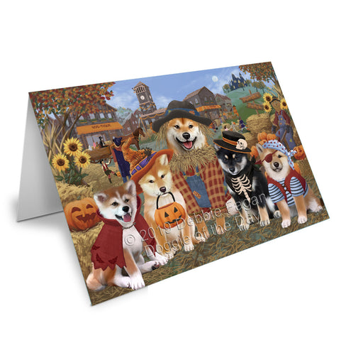 Halloween 'Round Town Shiba Inu Dogs Note Card NCD78455