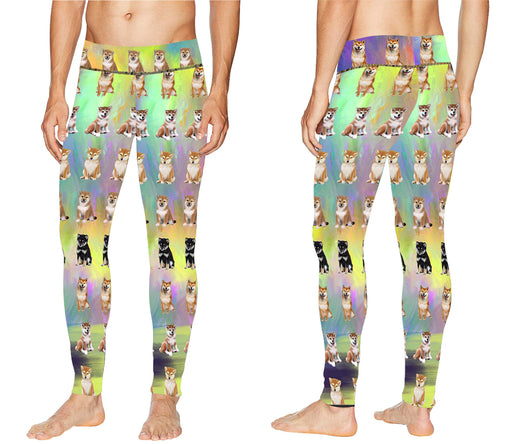 Paradise Wave Shiba Inu Dogs All Over Print Meggings