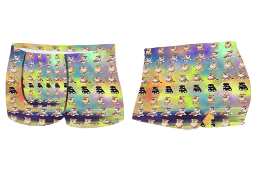 Paradise Wave Shiba Inu DogsMen's All Over Print Boxer Briefs