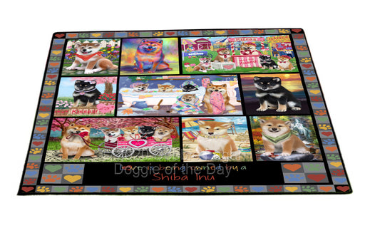 Love is Being Owned Shiba Inu Dog Grey Floormat FLMS55402
