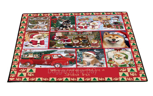 Love is Being Owned Christmas Shiba Inu Dogs Floormat FLMS54946