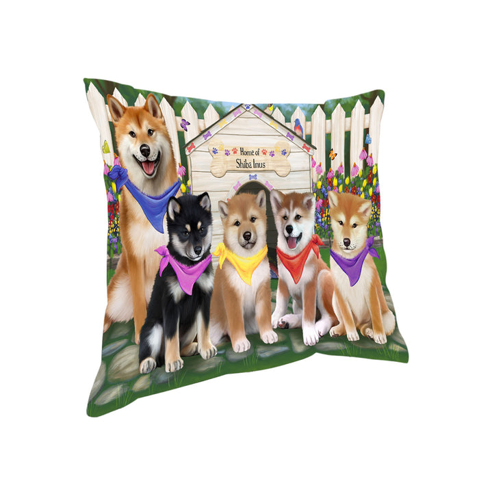 Spring Dog House Shiba Inus Dog Pillow PIL56380