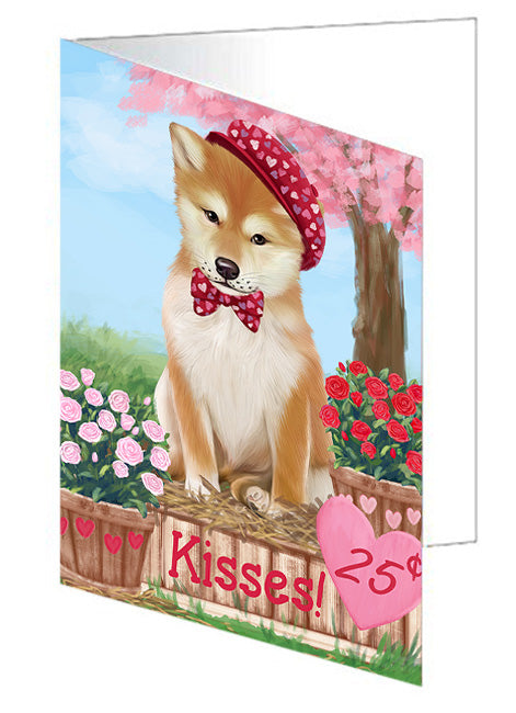 Rosie 25 Cent Kisses Shiba Inu Dog Note Card NCD72614