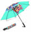 Custom Pet Name Personalized Watercolor Shiba Inu DogSemi-Automatic Foldable Umbrella
