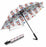 Watercolor Mini Shiba Inu DogsSemi-Automatic Foldable Umbrella