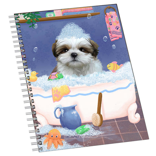Rub A Dub Dog In A Tub Shih Tzu Dog Notebook NTB55543