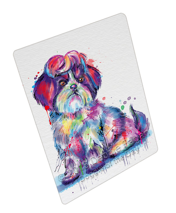 Watercolor Shih Tzu Dog Blanket BLNKT133572