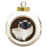 Rustic Siamese Cat Round Ball Christmas Ornament RBPOR54482