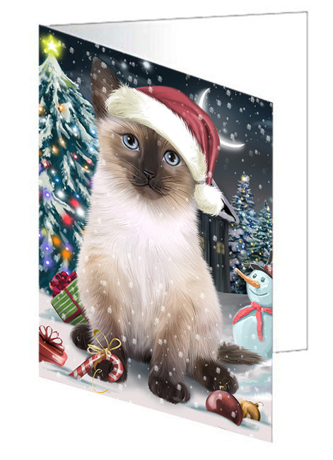Have a Holly Jolly Siamese Cat Christmas Note Card NCD59051