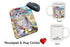 Pet Friendly Beach Siberian Cat Mug & Mousepad Combo Gift Set MPC49581