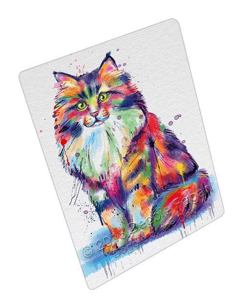 Watercolor Siberian Cat Refrigerator / Dishwasher Magnet RMAG105048