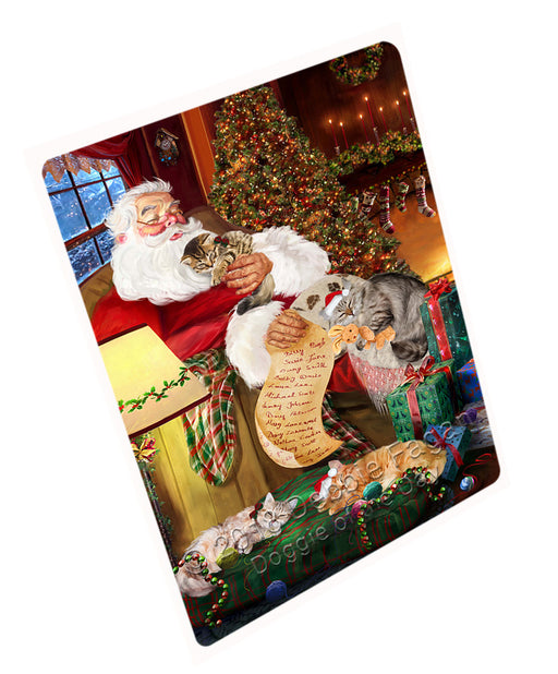 Santa Sleeping with Siberian Cats Christmas Large Refrigerator / Dishwasher Magnet RMAG77826