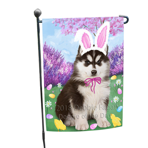 Siberian Husky Dog Easter Holiday Garden Flag GFLG57044
