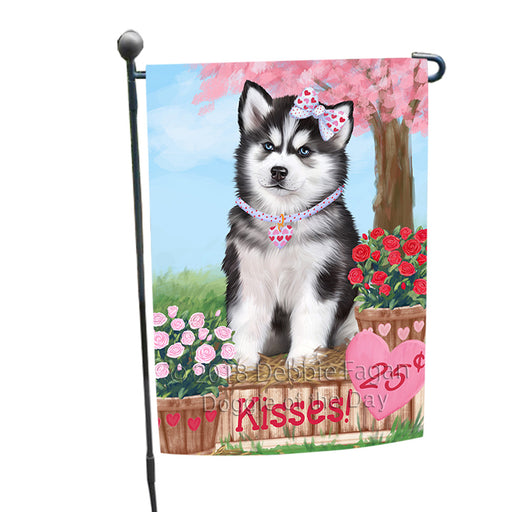Rosie 25 Cent Kisses Siberian Husky Dog Garden Flag GFLG56787