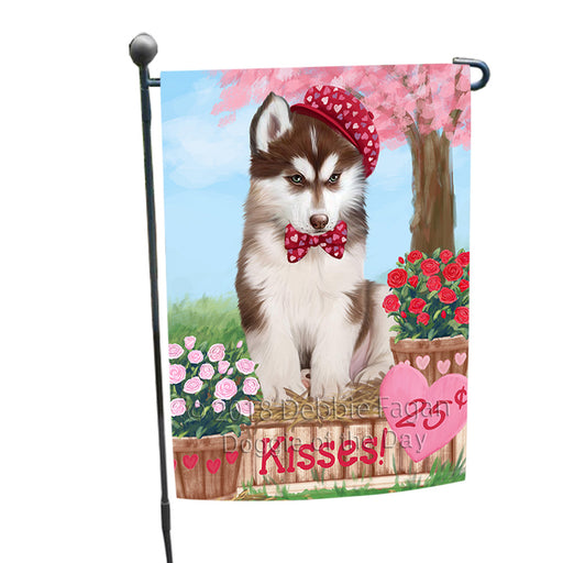 Rosie 25 Cent Kisses Siberian Husky Dog Garden Flag GFLG56789