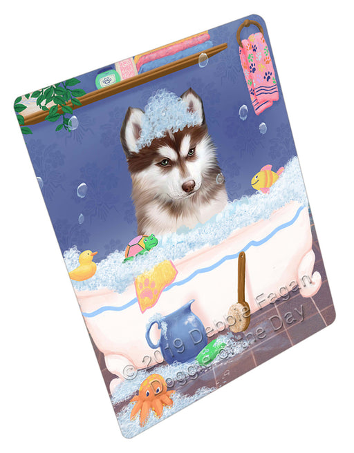 Rub A Dub Dog In A Tub Siberian Husky Dog Refrigerator / Dishwasher Magnet RMAG109710