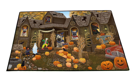 Haunted House Halloween Trick or Treat Springer Spaniel Dogs Floormat FLMS55654