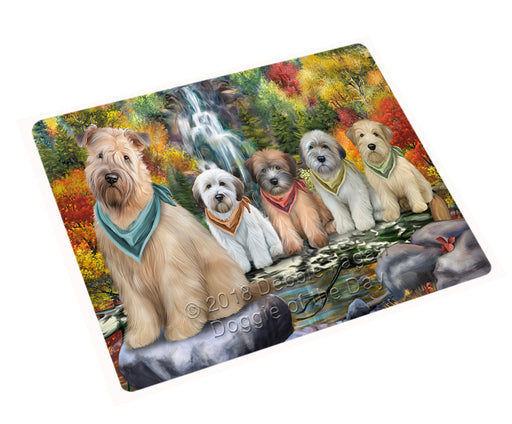 "Scenic Waterfall Soft Coated Wheaten Terriers Dog Magnet Mini (3.5"" x 2"") MAG54573"
