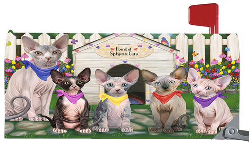 Spring Dog House Sphynx Cats Magnetic Mailbox Cover MBC48679