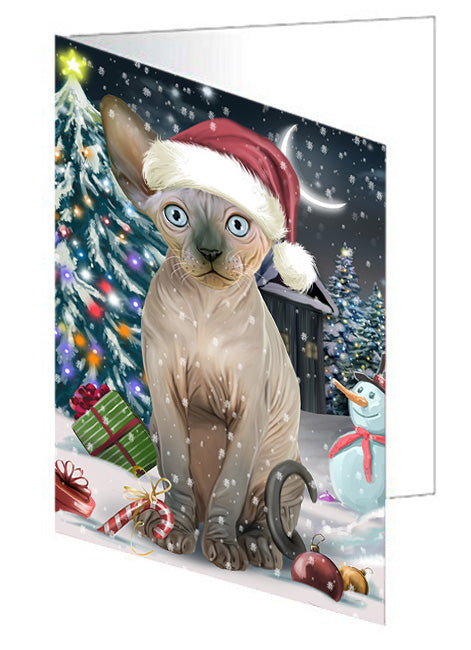 Have a Holly Jolly Sphynx Cat Christmas Greeting Card GCD59057