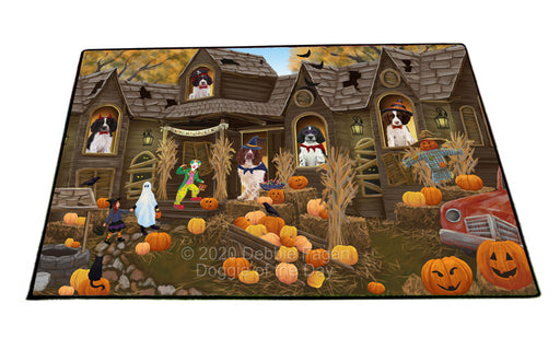 Haunted House Halloween Trick or Treat Skye Terrier Dogs Floormat FLMS55657