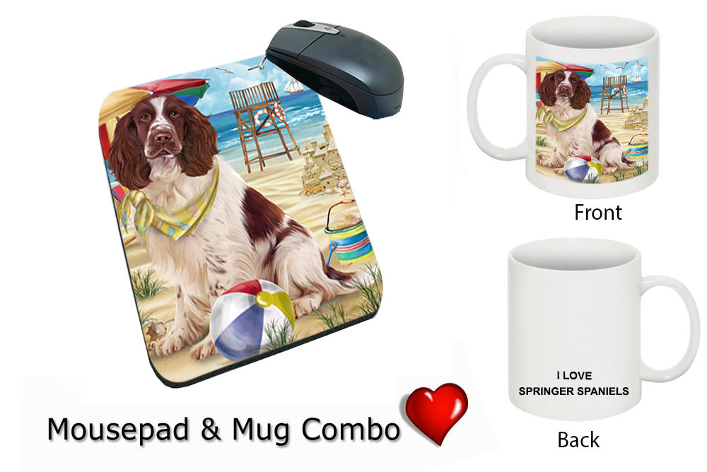 Pet Friendly Beach Springer Spaniel Dog Mug & Mousepad Combo Gift Set MPC49585