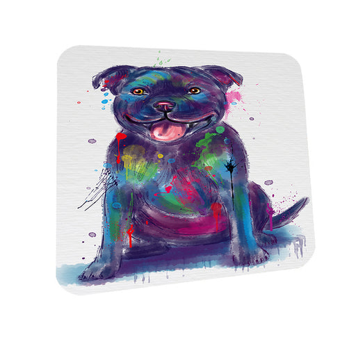 Watercolor Staffordshire Bull Terrier Dog Coasters Set of 4 CST57526