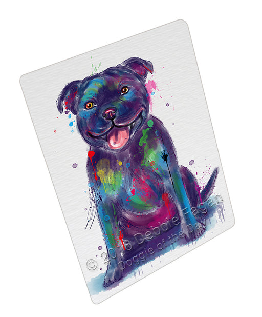 Watercolor Staffordshire Bull Terrier Dog Refrigerator / Dishwasher Magnet RMAG110376