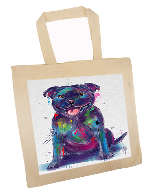 Watercolor Staffordshire Bull Terrier Dog Tote TTE57568