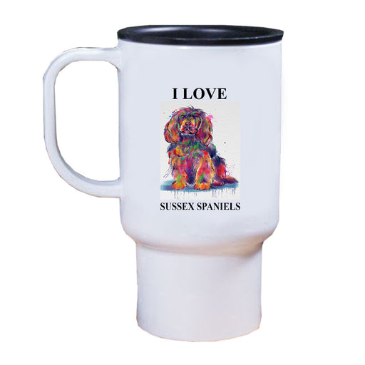Watercolor Sussex Spaniel Dog Travel Mug TRAV52804