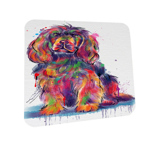 Watercolor Sussex Spaniel Dog Coasters Set of 4 CST57527
