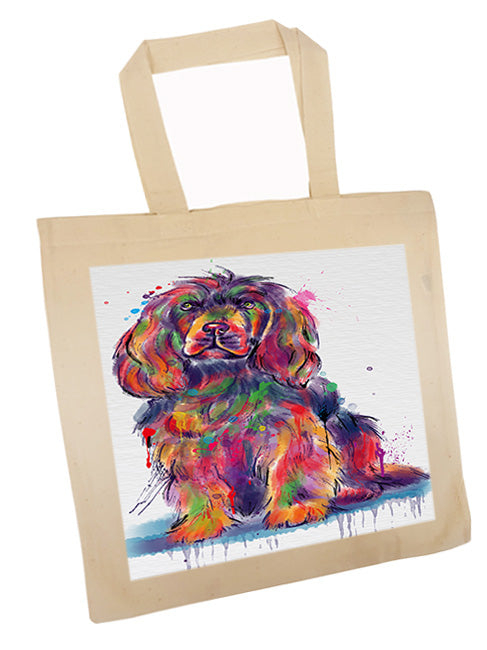 Watercolor Sussex Spaniel Dog Tote TTE57569