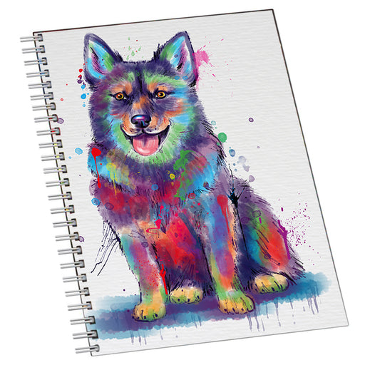 Watercolor Swedish Vallhund Dog Notebook NTB55752