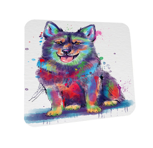 Watercolor Swedish Vallhund Dog Coasters Set of 4 CST57528