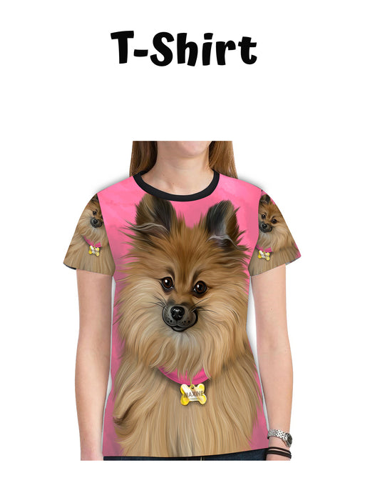 Add Your PERSONALIZED PET Painting Portrait on All Over Print Mesh Women's T-shirt