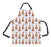 Watercolor Mini Tabby Orange Cats Apron